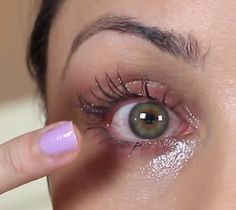 "Applying castor oil ... Scene from my ""How To Grow Massive Eyelashes Fast"" video. Click through and watch the video if you'd like to learn how to grow longer and thicker eyelashes naturally. http://www.youtube.com/watch?v=yxsTvroyU7A"