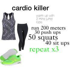 cardio HIIT workout!