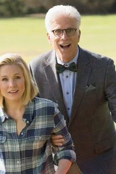 """""""THE GOOD PLACE""""  When a truck carrying erectile dysfunction pills kills Kristen Bell, she ends up in heaven due to a clerical error. Come on, this one's gotta be good. (Ted Danson also stars.)  Thursdays at 10 p.m. ET on NBC; premieres 9/19"""