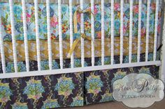 Custom Baby Crib Bedding Design Your Own  by MissPollysPieceGoods, beautiful girls color/pattern combo. If it's a girl, I'm trying to stay away from pink, but I like the bit of a pink accent.