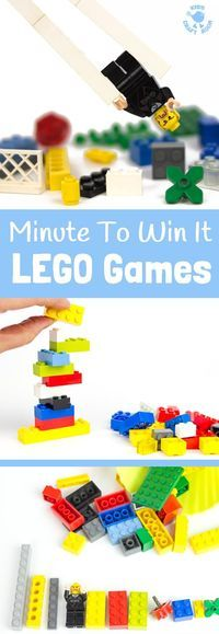 Fun and exciting Minute To Win It LEGO Games are perfect for family games nights and kids play dates. (From awesome book 365 Things To Do With LEGO Bricks.)