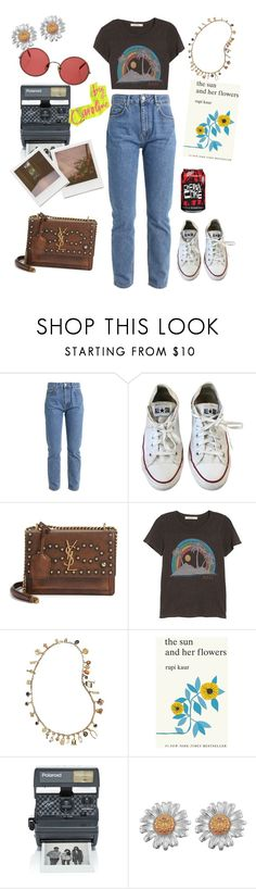 """Caroline summer vibes"" by burfurla ❤ liked on Polyvore featuring Converse, Yves Saint Laurent, Junk Food Clothing, Tory Burch, Simon & Schuster, Sunday Somewhere and Impossible Project"