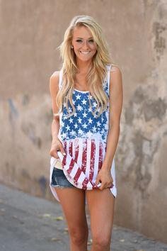 05423f46b36caa Feels like Freedom Tank Top – The Pulse Boutique Teen Girl Fashion