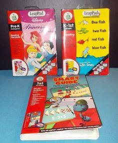 3 LoLeapFrog /Pad Dr Seuss K-1st Disney Princess Pre-K & Smart Guide 1st Grade  #LeapFrog