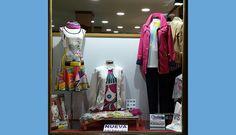 Escaparate de mujer en MARIETA con prendas de #custobarcelona #poupeechic #geox #guitarebcn ...