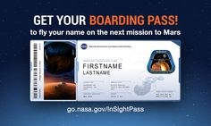 send your name to Mars!!