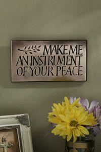 Make Me An Instrument Of Your Peace Bronze Plaque – Celebrate Faith