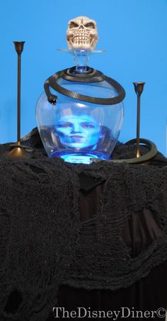 How to make a talking 3-D crystal ball. Great party idea!