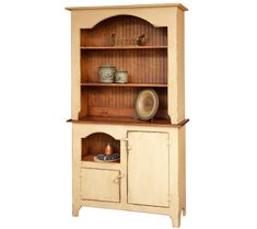 Wonderful example of an old time farmhouse hutch with plenty of details to give it character. Customize with 20 paint & stain colors. Made in the USA!