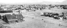 "1906 - Las Vegas was established in 1905.  Las Vegas - ""The Meadows"" from the greenery from artesian wells in the valley"