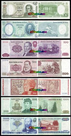 Chile banknotes - Chile paper money catalog and Chilean currency history Jobs For Freshers, Money Stacks, Gold Money, The Good Old Days, Ephemera, Nostalgia, Coins, History, Retro