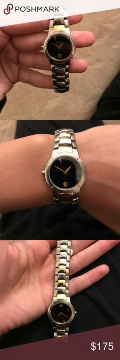 Authentic movado watch In good condition. Has a minor crack on screen and a few barely noticeable scratches on hardware Movado Accessories Watches