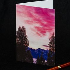 Sunrise Photography, Photo Greeting Cards, Etsy Shop, Sunset, Pacific Northwest, Hdr, Menu, Painting, Digital