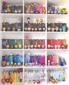 Interior Living Room Design Trends for 2019 - Interior Design Bookshelf Inspiration, Room Inspiration, Small Space Interior Design, Interior Design Living Room, Funko Pop Display, Otaku Room, Kawaii Room, Book Organization, Cute Room Decor