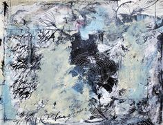 "Buy The Day Before, a Acrylic on Paper by Marijah Bac Cam from France. It portrays: Mortality, relevant to: organic lines, black, blue, graffiti, gestural, chaos, marijah bac cam, mortality, nature Mixed media on paper canvas 50x65 cm.    ""The Day Before"", enigmatic title that expresses a questioning. Under a thick cloud organic lines and scrawls appear or disappear? What happened the day before, before the big transformation? This work is an abstract vision of the last day before a..."