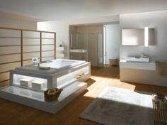 Banheiro luxuoso em duas versões