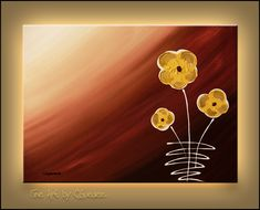 """""""Tre Fiori"""" - Flowers - Abstract Painting by Carmen Guedez www.carmenguedez.com"""