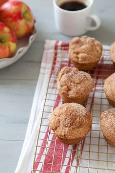 Cinnamon Sugar Apple Doughnut Muffins | Annie's Eats. taste more like an apple doughnut or an apple fritter but they are whole grain and not as indulgent