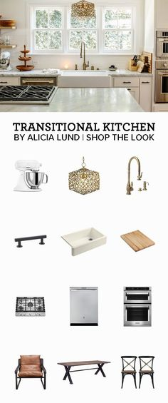 Looking for kitchen inspiration? Shop this transitional style kitchen designed by Alicia Lund.