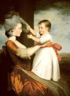 A portrait of Elizabeth Mortlock and her son John by John Downman, 1779