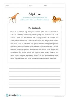 A free adjective worksheet on which students use adjectives … - German Language Student Learning, Teaching Kids, Kids Learning, Speech Language Therapy, Speech And Language, Adjective Worksheet, Apps For Teachers, German Grammar, Cycle 2
