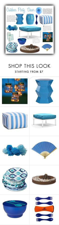 """""""It's Party Time! (So Sayeth the Balloons)"""" by christined1960 ❤ liked on Polyvore featuring interior, interiors, interior design, home, home decor, interior decorating, Improvements, Devon & Claire, Zuo and Cultural Intrigue"""