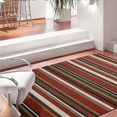 Weaving, Contemporary, Interior, Home Office, Crochet Rugs, Home Decor, Crochet Carpet, Stripe Rug, Bold Stripes