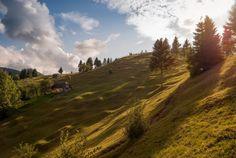 Hills above Moieciu De Sus, Romania Rurality by Dragos Ionescu, via Romania, Mountains, Places, Nature, Travel, Impressionism, Green, Naturaleza, Viajes