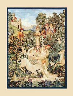 Tapiz Unicornio y Fuente #Ambar #Muebles #Deco #Interiorismo #Tapices