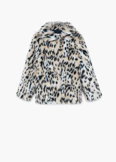 Leopard konstgjord päls rock -  Barn   MANGO