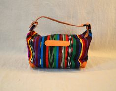 Guatemala | Handmade Striped Purse with Leather Detail