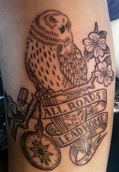 Owl tattoo designs have been popular for its symbolic meanings. Some of popular owl tattoos are barn, tribal, on chest, old school, skull. - Part 12