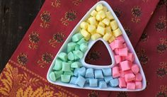Butter mints  1/2 cup (one stick) unsalted butter, softened beat 1 minute till fluffy add  5 cups powdered sugar beat again then add 2 tablespoons milk  3-4 drops Favored oil (or 1 tsp peppermint extract   food coloring of your  choice    roll into small ball roll in granulated sugar and press into mold