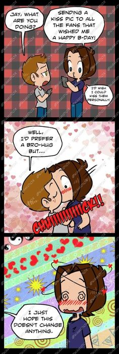 Happy 35th B-day Jay! by KamiDiox I made this comic a year ago but it was only pencil and a very bad scan so I re-made it. Based on the tweets J2 interchanged last Jared's bday