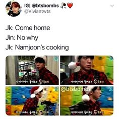 The house will burn down if RM does it Jin is the expert cooker