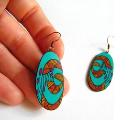 Shrink plastic earrings by Erin Inglis: beautiful shapes and colors!
