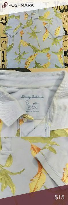 Tommy Bahama Polo shirt Used Tommy Bahama Polo shirt size XXL. A little faded around the collar area. Tommy Bahama Shirts Polos
