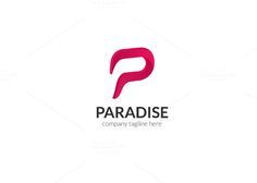 Paradise Letter P Logo by XpertgraphicD on Creative Market Name Logo, P Logo, Font Names, Modern Logo, Logo Design Inspiration, Logo Templates, Branding Design, Paradise, Lettering