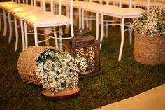 Cestos com flores e lanternas com velas by Soundlight - Christian Hilton e Isabelle Lopes