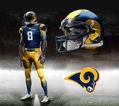 St. Louis Rams Nike NFL Pro Combat Uniform