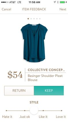 Collective Concepts Basinger Shoulder Pleat Blouse  Wear to work! Great gemstone color!