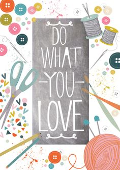 A little reminder to live a crafty life, always. Free wallpaper fro iPhone, iPad and more