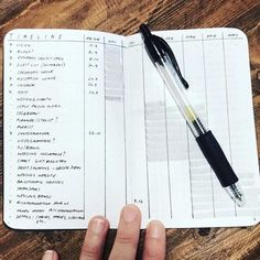 This smart future log: | 24 I l LOVE this future tracker!! Minimalist Bullet Journal Layouts To Soothe Your Weary Soul