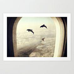 Dolphins Art Print by Paula Belle Flores - $19.00