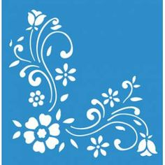 STM-055 PLANTILLA STENCIL 21,1X17,2 Quilling Patterns, Stencil Patterns, Stencil Art, Craft Patterns, Motif Floral, Floral Wall, Birthday Calender, Butterfly Stencil, Embroidered Towels