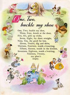 Nursery Rhyme Land illustrated by Hilda Boswell. I never knew this one past ten! Nursery Rhymes Lyrics, Old Nursery Rhymes, Nursery Songs, Nursery Rhymes Preschool, Rhyming Activities, Preschool Songs, Childhood Poem, Nursery Rymes, Kids Poems
