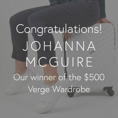 A big congratulations to our winner of the Pack your Acrobat Competition Johanna McGuire! We are so excited to see you in your new Verge pieces! Excited To See You, Congratulations, Competition, Big, Instagram