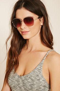 Senhora Óculos de Sol - Forever 21 Oversized Aviator Sunglasses
