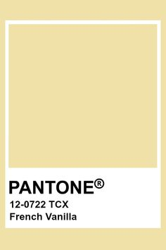 This color in yellow in hue, light in value, and low in chroma. This creates a very pale and relaxing yellow tone. Pantone Swatches, Color Swatches, Pantone Colour Palettes, Pantone Color, Colour Pallette, Colour Schemes, Color Trends, Paleta Pantone, Room Colors