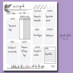 Midori Goal Planner TN Goal Planner Weekly by BrookeEvahPrints